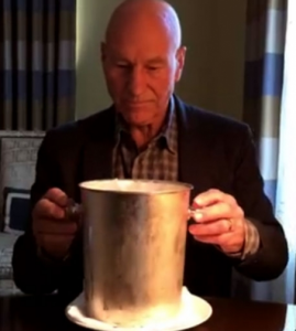 Sir Patrick Stewart zeigt den Selbstdarstellern, wo der Hammer hängt (© madamozell YouTube)