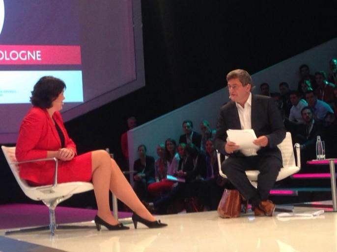 Anke Schäferkordt auf der dmexco über die Zukunft des TV. Achtung: Gesamte Diskussion und weitere Bilder folgen.  (Bild: Nils Kroneberg)