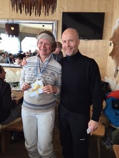 Jörg Eigendorf und Andrea Tichy, Sieger beim Davos-Cup