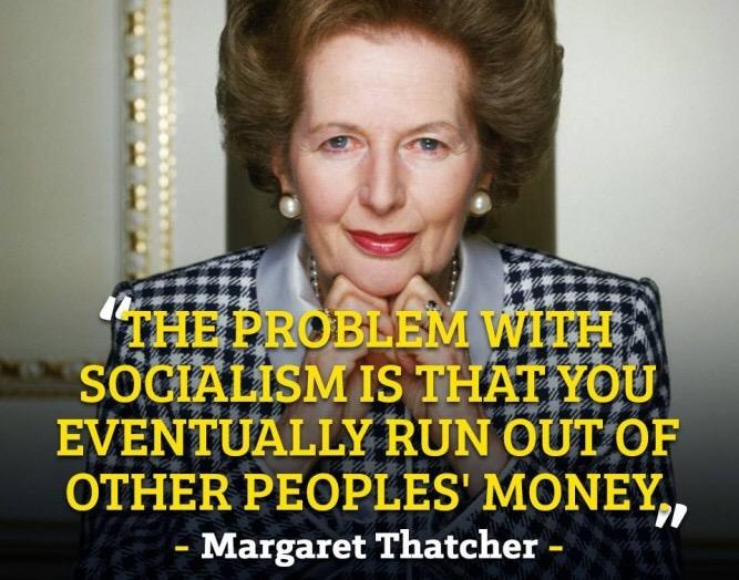 Margaret Hilda Thatcher  war eine britische Politikerin und von 1975 bis 1990 Vorsitzende der Konservativen Partei sowie von Mai 1979 bis November 1990 Premierministerin des Vereinigten Königreichs.