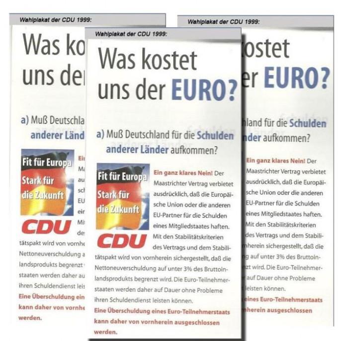 Was kostet uns der Euro?
