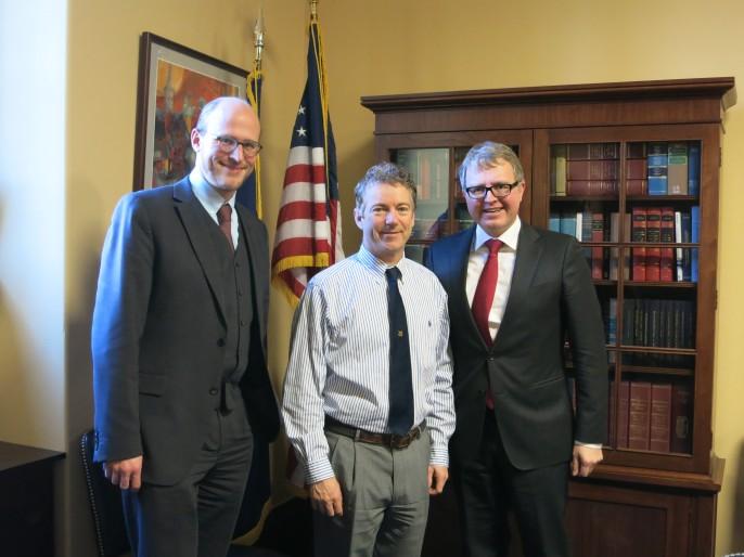 Im Januar 2014 waren Frank Schäffler und Clemens Schneider (Prometheus - Das Freiheitsinstitut) zu einem Gespräch bei Rand Paul in Washington.