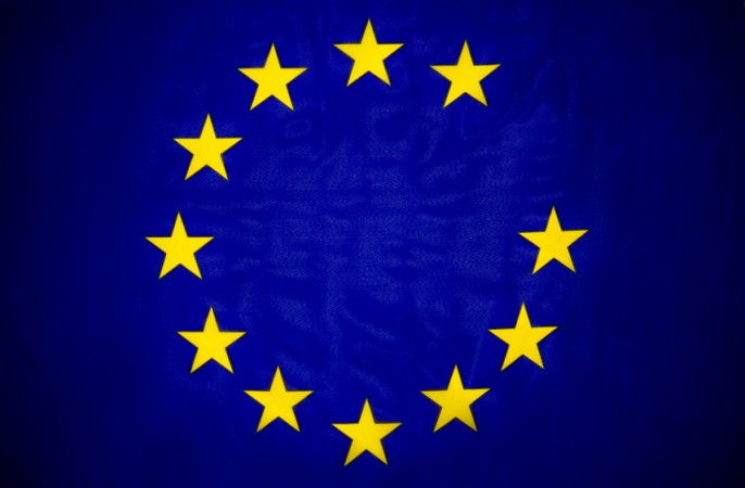 Fehlender Stern in EU Fahne, Flagge Unions Austritt