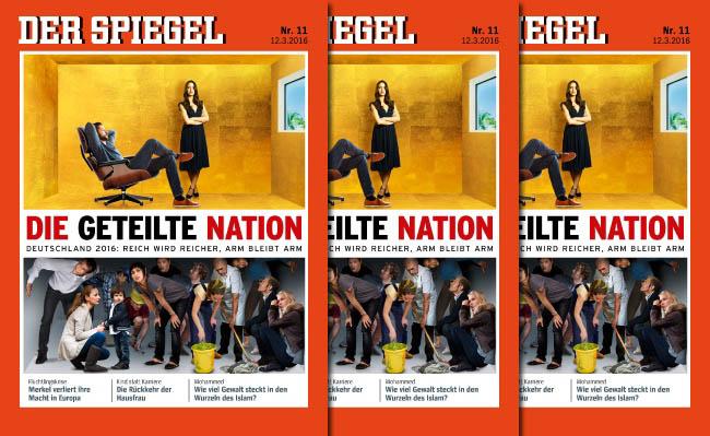 Der spiegel nr 11 die geteilte nation for Aktuelle spiegel ausgabe