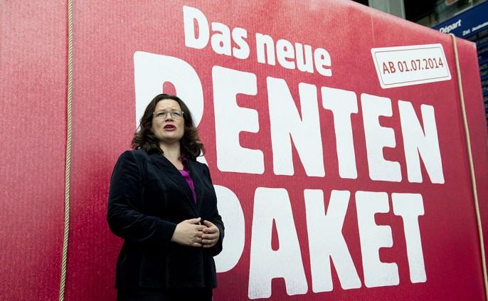 Labour Minister Nahles Promotes Pensions Package