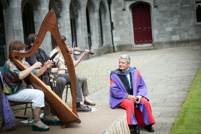 Joachim Gauck zu Besuch in Galway, Ireland (2015)