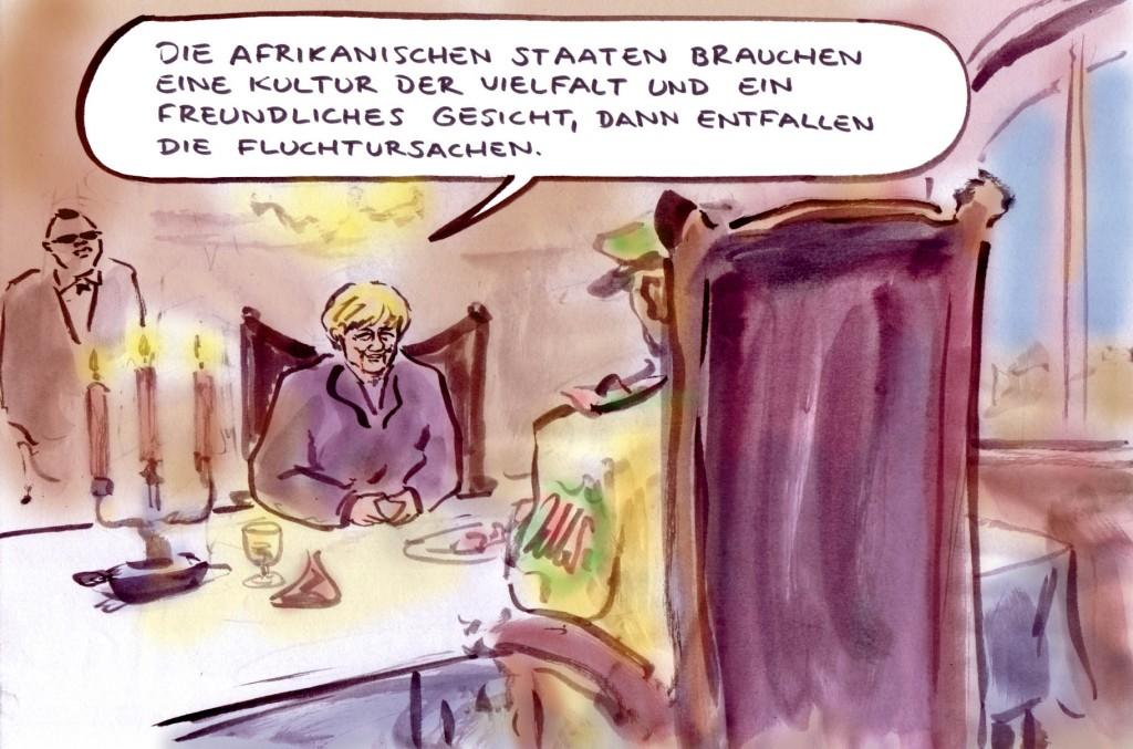 Merkel in Afrika