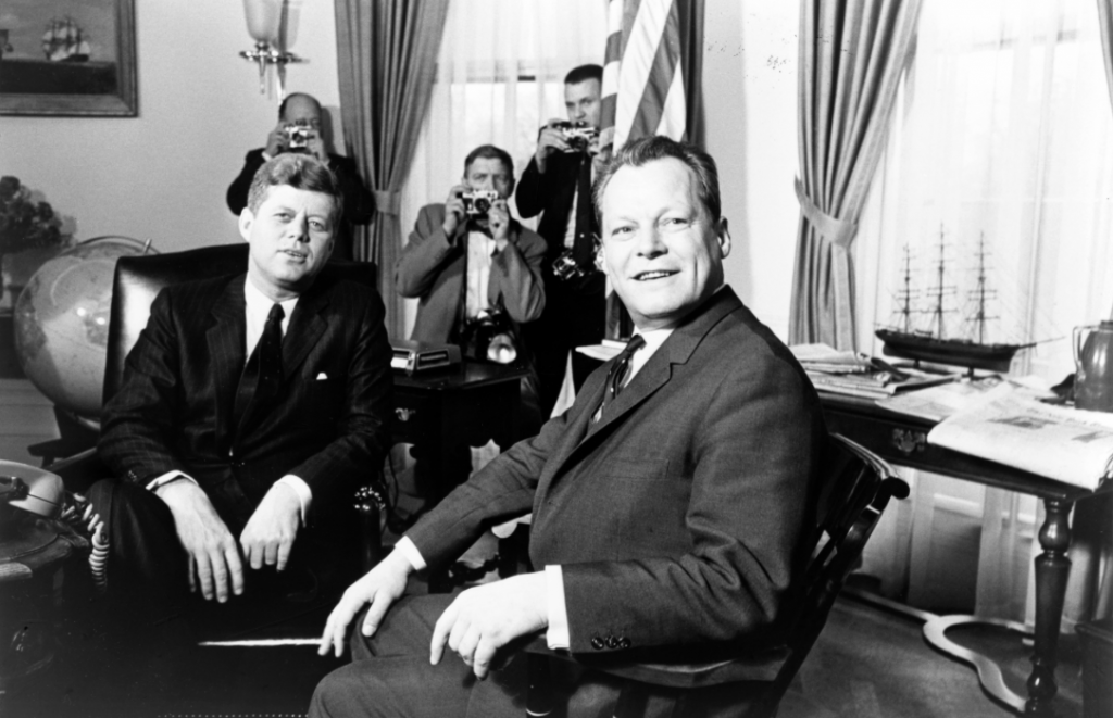 John F. Kennedy meeting with Willy Brandt, March 13, 1961