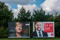 Plakatwerbung von CDU und SPD – Gesicht und Sicht