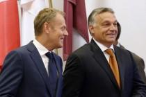 Donald Tusk und Viktor Orbán