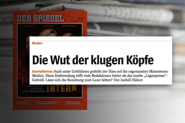 Medienkritik im spiegel die wut der klugen k pfe for Spiegel 02 2018