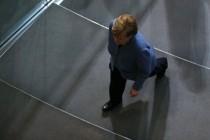 Merkel und der berühmte Tropfen?