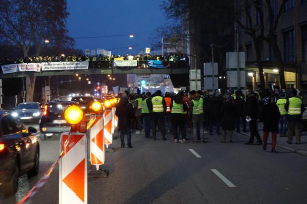 Neue Demonstration gegen Diesel-Fahrverbote in Stuttgart