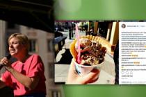 Katharina Schulze beim Eis essen in Kalifornien