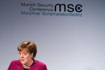 Angela Merkel bei Sicherheitskonferenz: Völlig losgelöst von der Erde