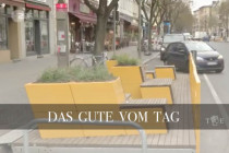 Protest-Parklet gegen den Mietenwahnsinn
