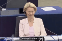 Von der Leyen: Lachen schockgefroren