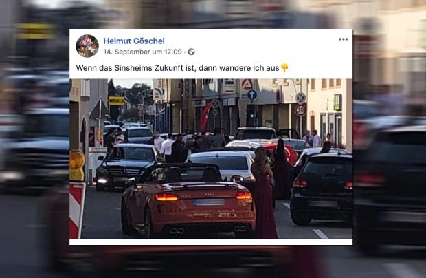 Sozialdemokrat will lieber auswandern: Orientalischer Autokorso sperrt Straße in Sinsheim