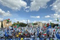 Salvini in Rom: Ein Fahnenmeer gegen die Regierung