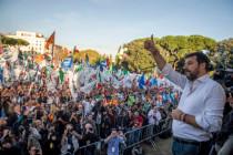 Großkundgebung in Rom: Matteo Salvini kämpferisch