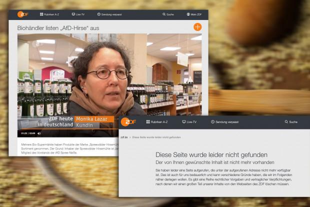ZDF löscht Beitrag verschämt lautlos