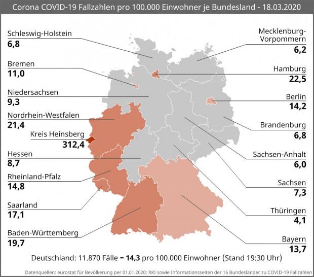 Deutschland Corona Fälle Karte