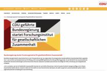 """Neues Institut soll der Politik """"praxisrelevante Vorschläge"""" liefern"""