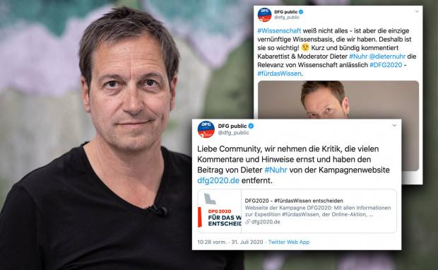 Deutsche Forschungsgemeinschaft löscht Beitrag von Dieter Nuhr