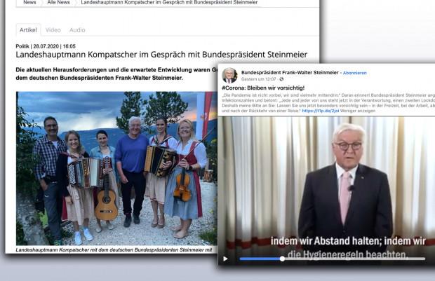 Frank-Walter Steinmeier, der Maskenlose