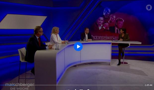 """Bei Maischberger sagt Elke Heidenreich über Karl Lauterbach: """"Geht mir so auf die Nerven""""."""