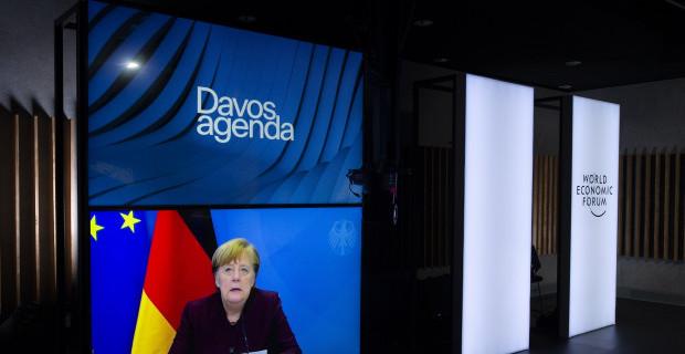 In ihrer Davos-Rede operiert Merkel mit Falschbehauptung und Irreführung
