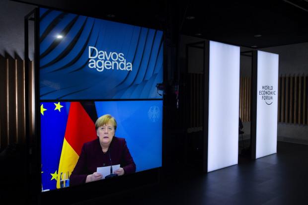 Fake Nuss: In ihrer Davos-Rede operiert Merkel mit Falschbehauptung und Irreführung