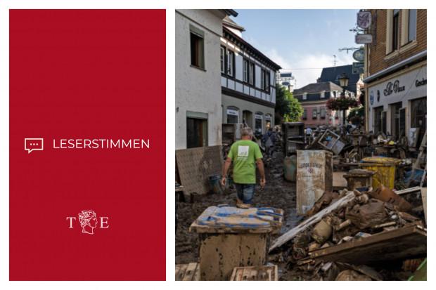 Leserkommentare zum Hochwasser: Zum Flutdesaster das Berichtsdesaster