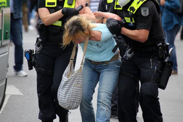 Wo die Polizei auftauchte, waren die Querspaziergänger schon wieder woanders